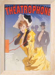 Theatrophone, 1890 by Jules Cheret