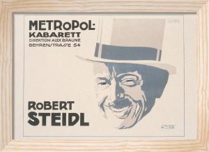 Metropole Kabarett - Robert Steidl, 1918 by Jo Steiner