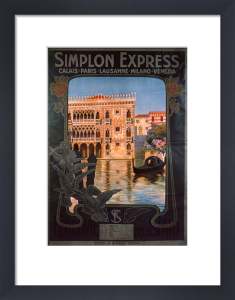 Simplon Express, 1900 by Anonymous