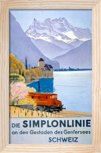 Simplonlinie - Swiss Railway, 1949 by Anonymous