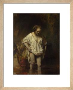 A Woman bathing in a Stream (Hendrickje Stoffels?) by Rembrandt van Rijn