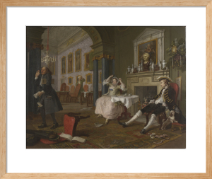 Marriage A-la-Mode: 2, The Tête à Tête by William Hogarth