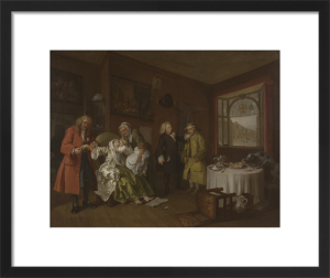 Marriage A-la-Mode: 6, The Lady's Death by William Hogarth