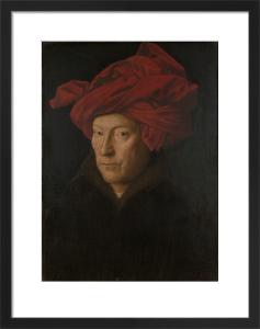 Portrait of a Man (Self Portrait?) by Jan Van Eyck