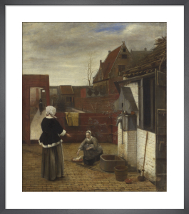 A Woman and her Maid in a Courtyard by Pieter de Hooch
