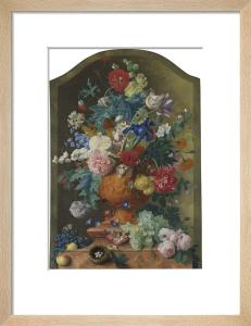 Flowers in a Terracotta Vase by Jan Van Huysum