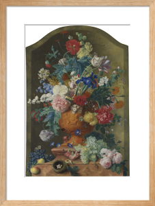 Flowers in a Terracotta Vase by Jan Van Huysum