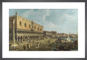 Venice: The Doge's Palace and the Riva degli Schiavoni by Giovanni Canaletto