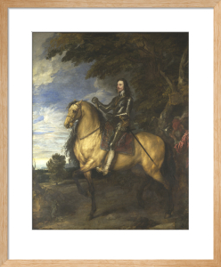 Equestrian Portrait of Charles I by Sir Anthony Van Dyck