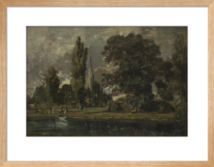 Salisbury Cathedral and Leadenhall from the River Avon by John Constable