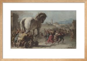 The Procession of the Trojan Horse into Troy by Giovanni Domenico Tiepolo