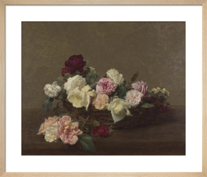 A Basket of Roses by Ignace-Henri-Théodore Fantin-Latour
