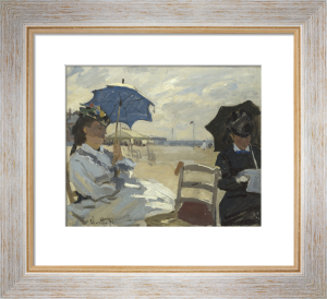 The Beach at Trouville by Claude Monet
