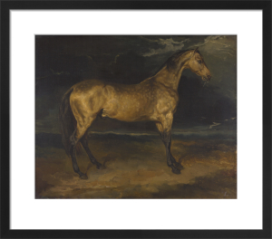 A Horse frightened by Lightning by Jean-Louis-André-Théodore Géricault