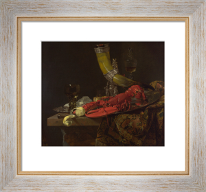 Still Life with the Drinking-Horn of the Saint Sebastian Archers' Guild, Lobster and Glasses by Willem Kalf
