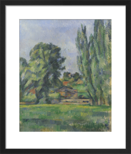 Landscape with Poplars by Paul Cezanne