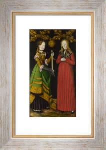 Saints Genevieve and Apollonia by Lucas Cranach the Elder