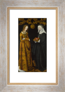 Saints Christina and Ottilia by Lucas Cranach the Elder