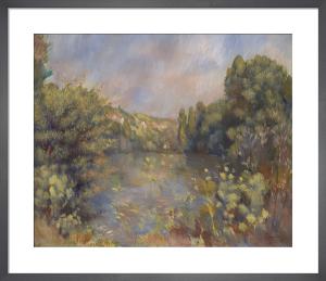 Lakeside Landscape by Pierre Auguste Renoir