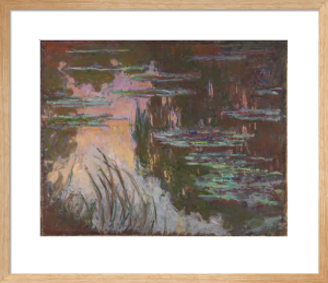 Water-Lilies, Setting Sun by Claude Monet