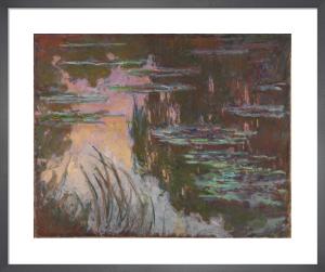 Water-Lilies, Setting Sun by Claude Monet