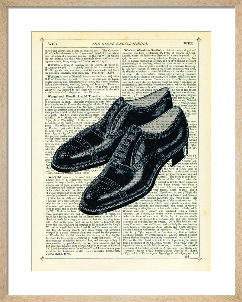 33f43aaed3 Mens Shoes Art Print by Marion McConaghie | King & McGaw