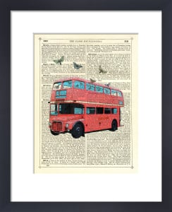 Butterfly London Bus by Marion McConaghie