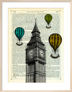 Big Ben and Balloons by Marion McConaghie