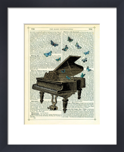 Piano and Butterflies by Marion McConaghie