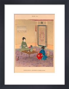 Japanese Interior. Arrangement of Summer Flowers by Josiah Conder