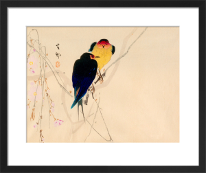 Swallows with Blossom by Anonymous