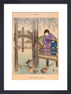 Wisteria Blossoms at Kameido by Josiah Conder