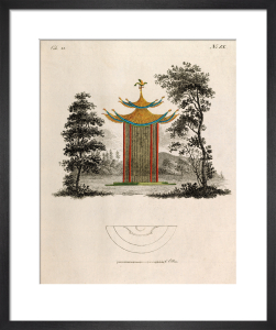 Oriental Pagoda and Plan by Johann Gottfried Grohmann