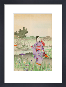 Beauties Looking at the Irises in Yoshino-en by Anonymous