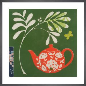 Orange Teapot by Fiona Howard