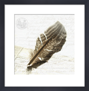 Feather and Letter by Deborah Schenck