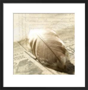 Feather Letter 3 by Deborah Schenck