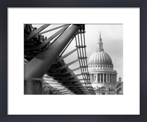 Millennium Bridge spectators by St. Paul's by Niki Gorick