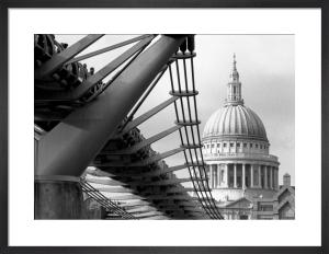 Millennium Bridge spectators by St. Paul's by Niki Gorick