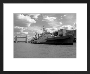 HMS Belfast upstream from Tower Bridge by Niki Gorick