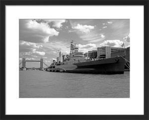 HMS Belfast upstream from Tower Bridge by Niki Gorick