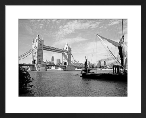Tower Bridge and Thames barge by Niki Gorick