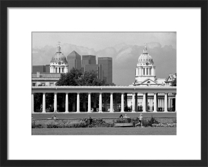 Canary Wharf towers above Greenwich Park by Niki Gorick