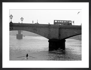 Sculling up to Putney Bridge by Niki Gorick