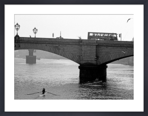 Sculling up to Putney Bridge by Niki Gorick