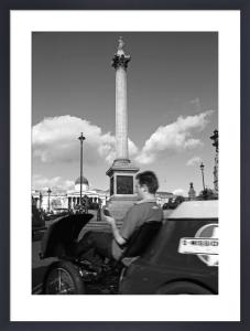 Mobile phone-call, Trafalgar Square by Niki Gorick
