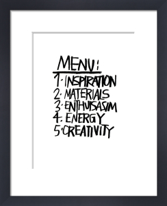 Menu by Stephen Anthony Davids