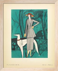 La dame au lévrier by Gazette du Bon Ton