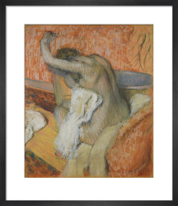 After the bath - woman drying herself by Edgar Degas