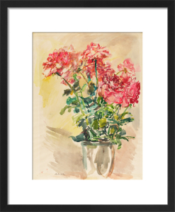 Flower Piece - Roses 1 by Oskar Kokoschka